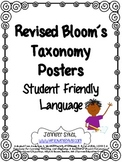 Revised Bloom's Taxonomy Student Friendly Posters & Task Cards