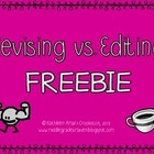 Revising vs Editing FREEBIE