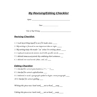 Revising/Editing Checklist