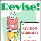 Revision (Writing) Worksheet &amp; Answer Key, Grades 4-6