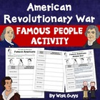 Revolutionary War Famous American Colonists Worksheet Common Core