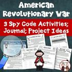 Revolutionary War Spy Codes Bundled Activity Resources