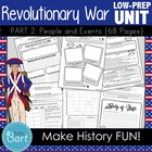 Revolutionary War Unit (Part 2) ---43 PAGES of Resources!