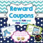 Reward Coupons: 50+ Colorful & Exciting Rewards for Students