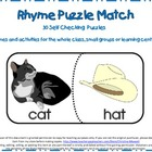 Rhymes Puzzle Match-30 Matches 2 Letter Families
