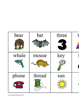 Rhyming - Mix and Match Game Cards
