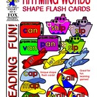 Rhyming Word Families Shape Cards