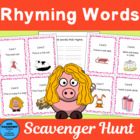 Rhyming Words Scavenger Hunt