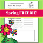 Riddle Me Spring (Fun Spring Rhyming Activity)