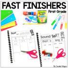 Rigor Work for Early Finishers - 1st Grade
