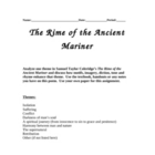 &quot;Rime of the Ancient Mariner&quot; - Essay Assignment Using Themes