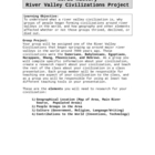 River Valley Civilizations Group Project