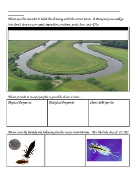 Rivers, Lakes, and Water Quality Unit Homework