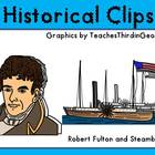 Robert Fulton and the Steamboat Clip Art Mini Set-Commercial use