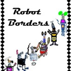 Robot Border for Bulletin Boards