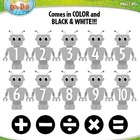 Robot Math Numbers Clipart  Over 30 Graphics!