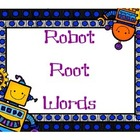 Robot Root Words sorting activity