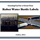 Robot Water Bottle Labels