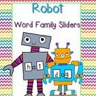 Robot Word Family Sliders