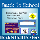 Rock 'N Roll Classroom Signs