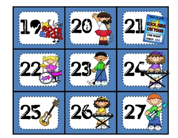 Rock Star Calendar Numbers