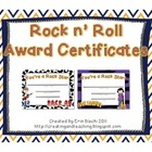 Rock Star Certificates