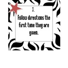 Rock Star Classroom Theme Rules, Nametags, Compliments Chain Sign