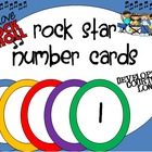 Rock Star (Darker Color Scheme) Number Cards
