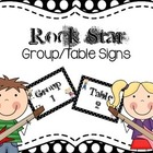 Rock Star Group/Table Signs