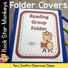 Rock Star Monkey Themed Daily Work Folder Covers for Eleme