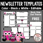 Rock Star Owl Free Editable Newsletter Templates