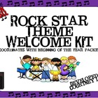 Rock Star Theme Welcome Pack in Darker Colors