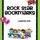 Rock Star Themed Bookmarks