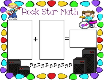 Rock Star Themed Math Mats