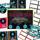 Rock and Roll Word Wall- 4 options with editable word cards