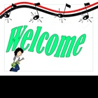 Rock &#039;n Roll Theme Welcome Sign