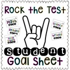 """Rock the Test"" Student Goal Sheet"