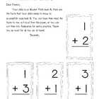 Rocket Math Addition Practice {flash cards to send home!}