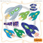 Rocket Ships Clip Art by CraftyGraphics