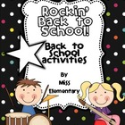 Rockin&#039; Back to School! [Back to School Activities]