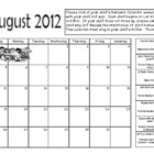 Rockin Behavior August Calendar
