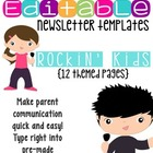 Newsletter Templates (12 included): Rockin' Kids Theme