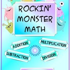 Rockin&#039; Monster Math Addition Subtraction Multiplication D