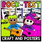 Rockin&#039; Out the Test Craftivity and Posters