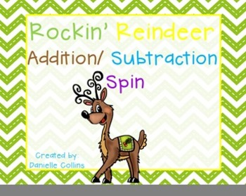 Rockin Reindeer Addition/Subtraction  Freebie
