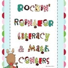 Rockin&#039; Reindeer Literacy and Math Centers Pack