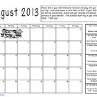 Rocking Behavior Calendar 2013-2014