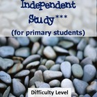 Rocks, Minerals and Fossils Independent Study for Primary Grades