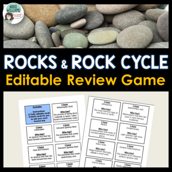 Rocks & Rock Cycle Review Game (I Have, Who Has)