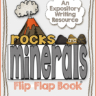 Rocks and Minerals Flip Flap Book - An Expository Writing
